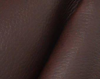 "Pre-cut Rustic Eggplant Brown Leather Oil Tan Cow Hide 8""x 10"" 5-6 oz pebble grain DE-59124 (Sec. 7,Shelf 5,A)"