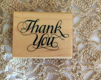 D049  Thank You Rubber Stamp