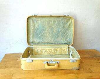 Old Suitcase, Beige Valise, Old Luggage, Suitcase Table, Suitcase Trunk, Travel Trunk, Luggage Bag, Cardboard Suitcase, Leather Suitcase,