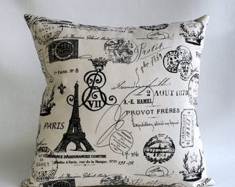 20% OFF SALE Pillows  Cushion Covers , French pillow , Paris Pillow , Onyx pillow , on natural background fabric , Euro sham ZIPPER Closure