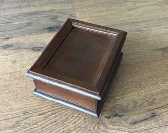 Vintage Reuge Switzerland Music Box, Wedding Song, Removable picture, keepsake box, jewelry box, Swiss Musical Movement
