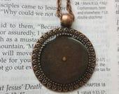 3 Antique Copper Sunflower Necklaces