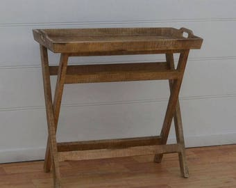 Solid Wood Console Table w/ Trey
