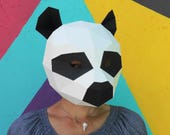 Panda Mask - Build your own animal mask from recycled card