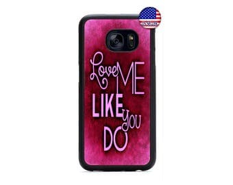 Love Song Quote Saying Pink Hard Rubber TPU Case Cover For Samsung Galaxy S8 S7 S6 Edge Plus S5 S4 S3 NOTE 5 4 3 2 iPod Touch 4 5 6
