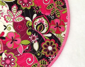Happy, Bright Pink, Green, Black 'n White Placemats