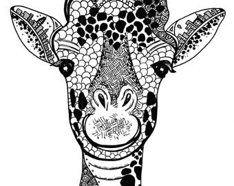Limited Edition Happy Elephant Drawing Print- Signed by Kelsey Montague