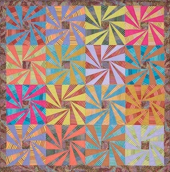 WHIRLING STRIPES Quilt Fabric Pack Kaffe Fassett Quilts In Ireland
