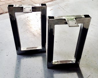 "1.5"" Square Steel Bench Legs (Set of 2)"