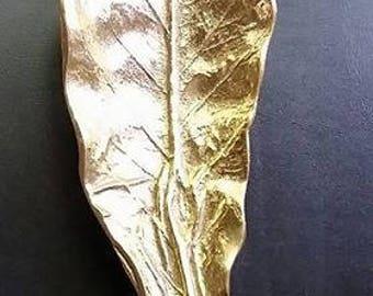 VA Metal Crafters Brass Tobacco Leaf