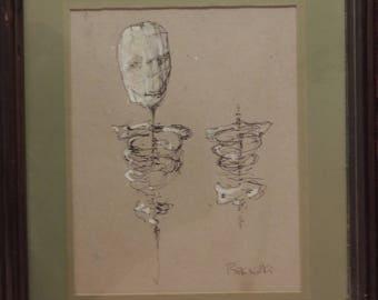 Zdzislaw Beksinski (1929 - 2005), Untitled drawing
