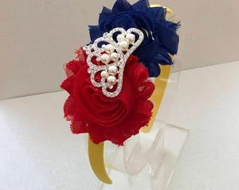 Princess Snow white inspired headband- Snow White inspired crown- Snow White costume