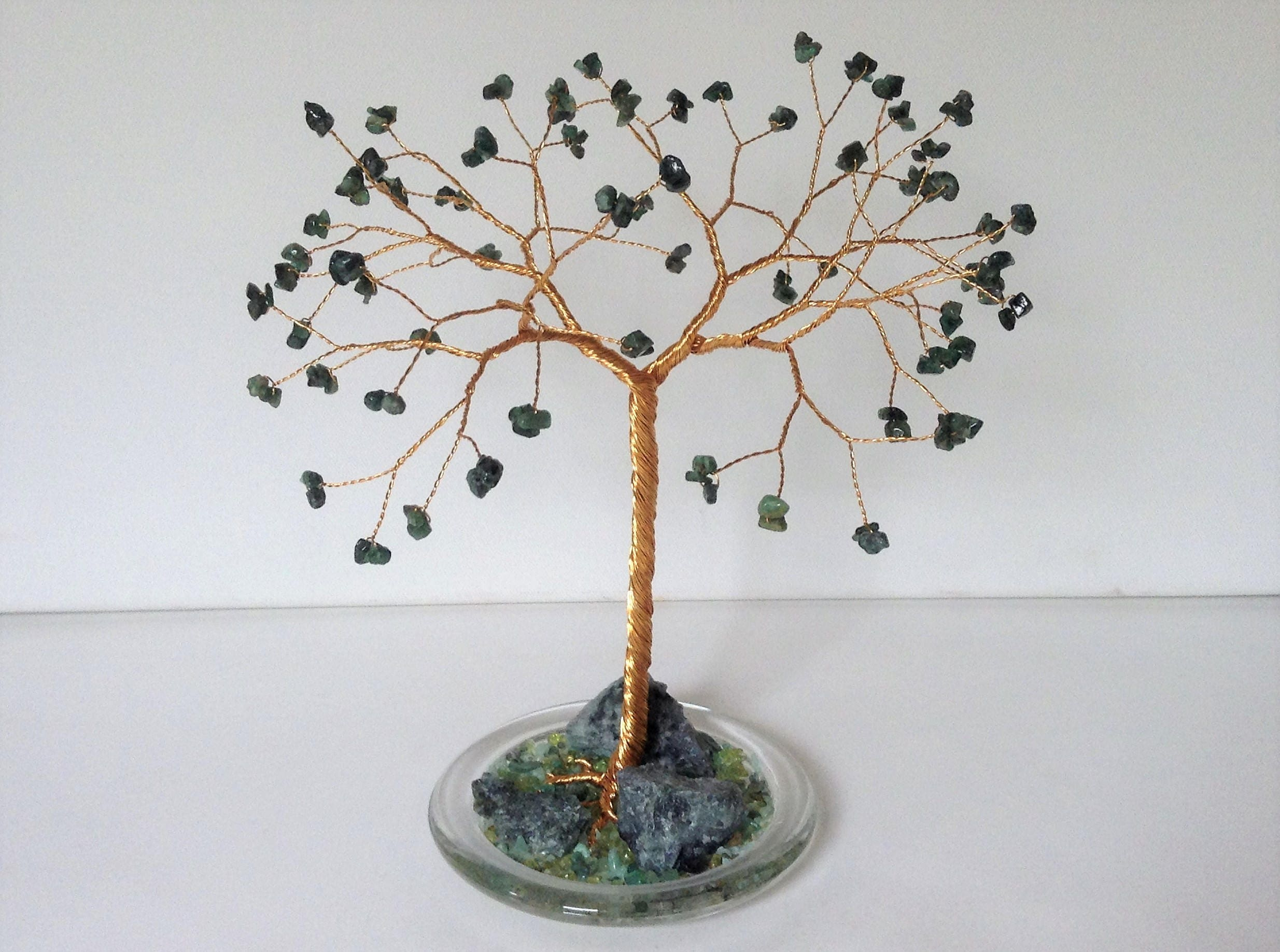 55th Wedding Anniversary Gift Ideas For Parents: 55th Wedding Anniversary Gift.Emerald Gemstone Tree Sculpture