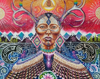 Into the Wild origibal painting visionary art