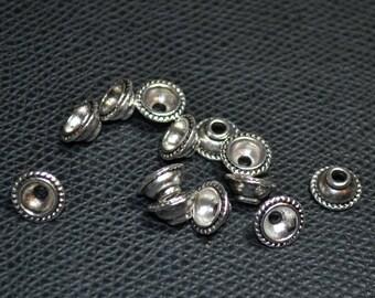 10 round silver diamètre10mm cups cups