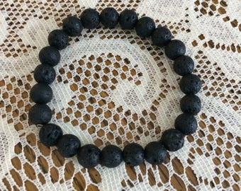Black Lava Stone 3 Bracelet Set