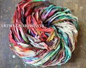 Pure Sari Silk, Painters Pallet 2, Sold Per Yard & 5 Yds, Recycled Sari Silk, Fair Trade, Fabric, Ribbon, Yarn, Silk, ArtWear Elements, 301