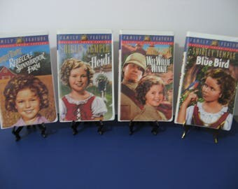 Shirley Temple - Set of 4 Classic Movies -  Heidi - Wee Willie Winkie - The Blue Bird - Rebecca Sunnybrook - VHS Tape