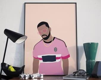 Drake Juventus Poster. More Life Drake Minimal Poster. Print.