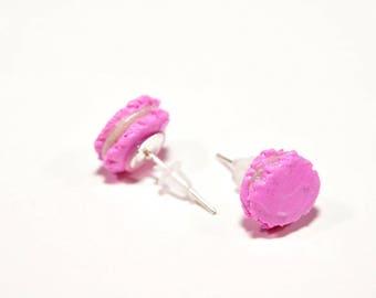 Pink macaroon earrings