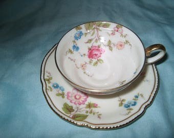 Vintage Small Cup & Saucer, Castleton China, Sunnyvale