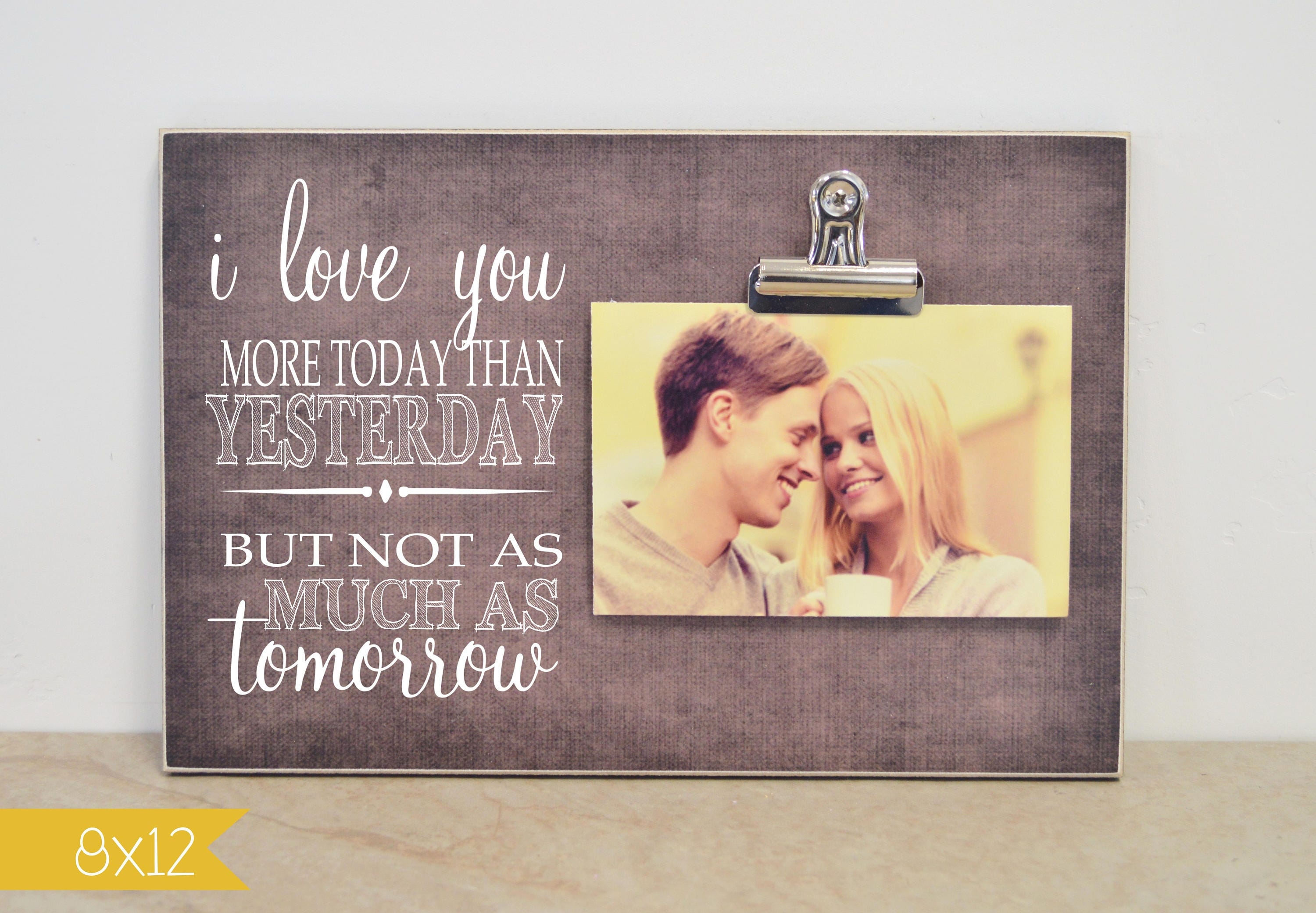 Anniversary Gift For Her, Personalized Photo Frame, 5th