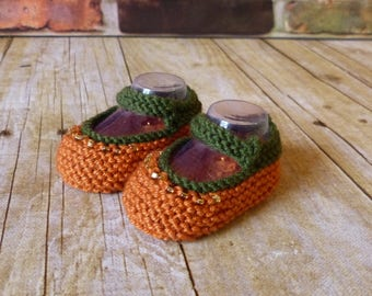 Pumpkin Crochet Baby Booties