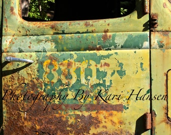 Old Jalopy Pickup Truck Rusty Door Rural America Farmland Fine Art Photography Man Cave Garage Art