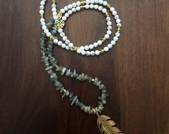 mystical labradorite pendant necklace