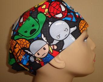 Skull Cap , Tie Back , Scrub Cap , MV12-rare