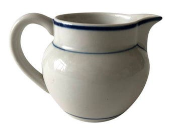 Portuguese Ceramic Blue and White Pitcher