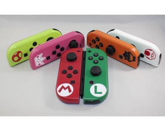 Nintendo Switch Custom Joy-Con Controllers - Super Mario Themed Choose Your Character!