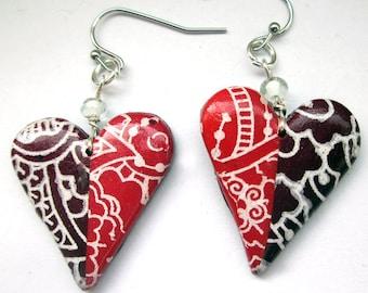 Earrings 2 hearts