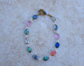 Sparkly Crystal Colorful Necklace