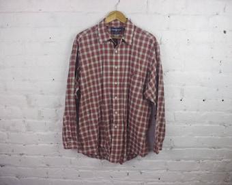 Polo Ralph Lauren Flannel shirt button up vintage 90s