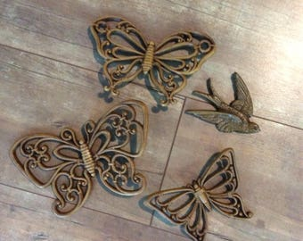 Syroco Homco Set of Butterflys and set of birds  wall decor FREE SHIPPING