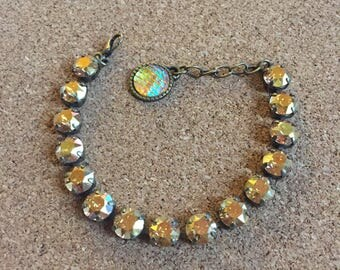 Golden sunshine Swarovski crystal bracelet!!!