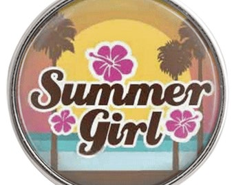 C1056  Art Glass Print Chunk - Summer Girl