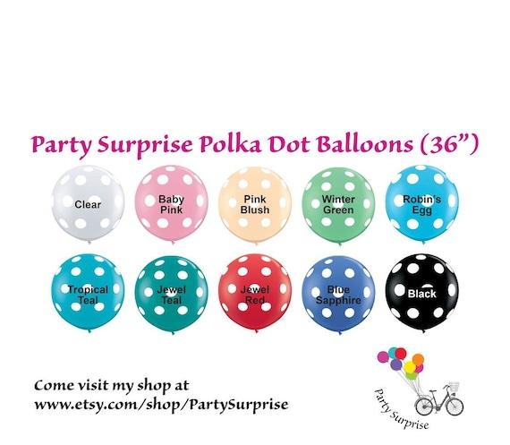 Balloons 36 Polka Dot Jumbo Color Chart Red Black Clear Blush Navy