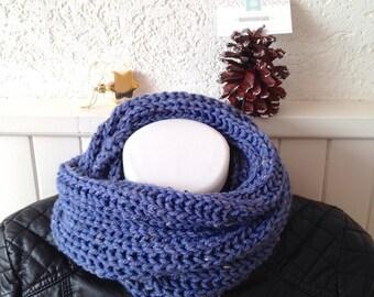 Large Snood mesh XL woman, lavender blue