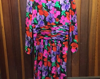 1980S // Where Did Our Love Grow // Vintage Maggy London By Jeannene Booher Floral Dress