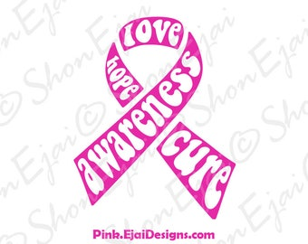 Breast Cancer Svg, Breast Cancer Ribbon Svg, Breast Cancer Awarenss Svg, Breast Cancer Awareness Ribbon Svg, Cancer Svg, Cancer Ribbon Svg