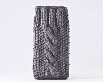 Gray Knitted iPhone X Case, Gray iPhone Case, Knitted Samsung Galaxy Sleeve, iPhone 6S Case, Gray Mom Gift, Knitted Vegan Gifts