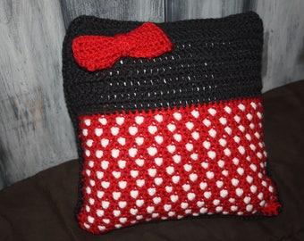 Crochet PATTERN –Disney Inspired Throw Pillow –Minnie Mouse –Home Decor –Decorative Pillow –Disney Crochet