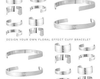 Personalised Bracelet | Womens Gift | Design your own bracelet | Secret Message | Custom Floral Bracelet by Glam and Co