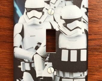 Star Wars Storm Troopers light switch plate cover // **SAME DAY SHIPPING