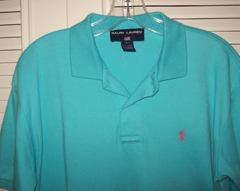 Ralph Lauren Polo Large, Luscious Turquoise/Blue FIVE STAR   see details (men's or women's)