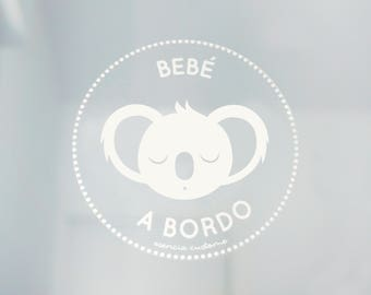 "Sticker for car ""Baby on-board Koala"""