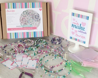 Necklace Party in a Box Kit, Bracelet Party in a Box, birthday party activity, sleepover activity, bracelet kit, jewellery craft