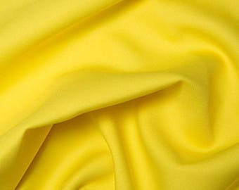 """Yellow - Polyester Twill Plain Fabric 150cm (59"""") Wide Dressmaking Material"""